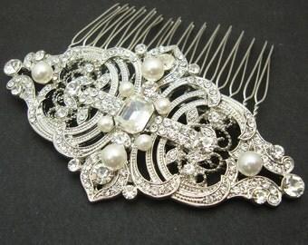 Vintage Style Bridal Hair Comb, Wedding Hair Comb, Wedding Bridal Hair Accessories, Art Deco Wedding Headpiece, REGINA