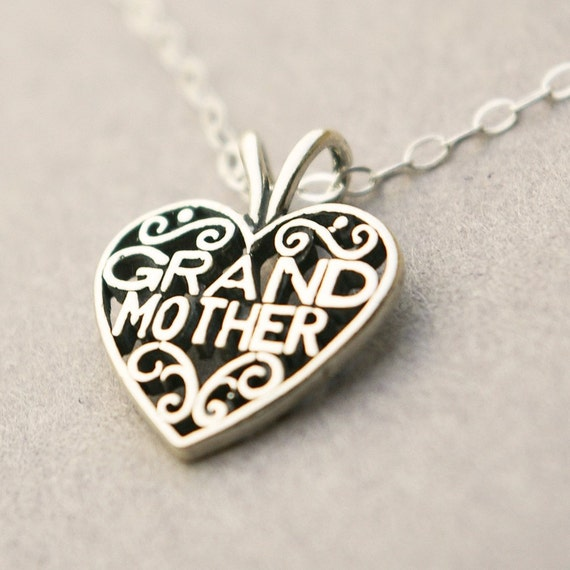 Nana keepsake heart pendant grandmother necklace grandma for Grandmother jewelry you can add to