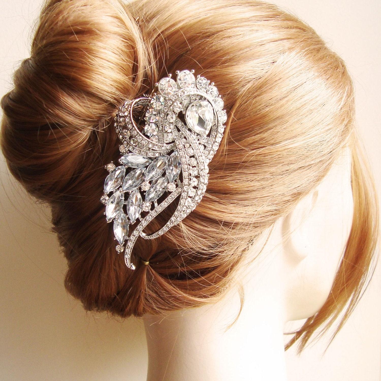 Wedding Hairstyles Drawing: Vintage Bridal Hair Comb Crystal Wedding Hair Piece Art Deco