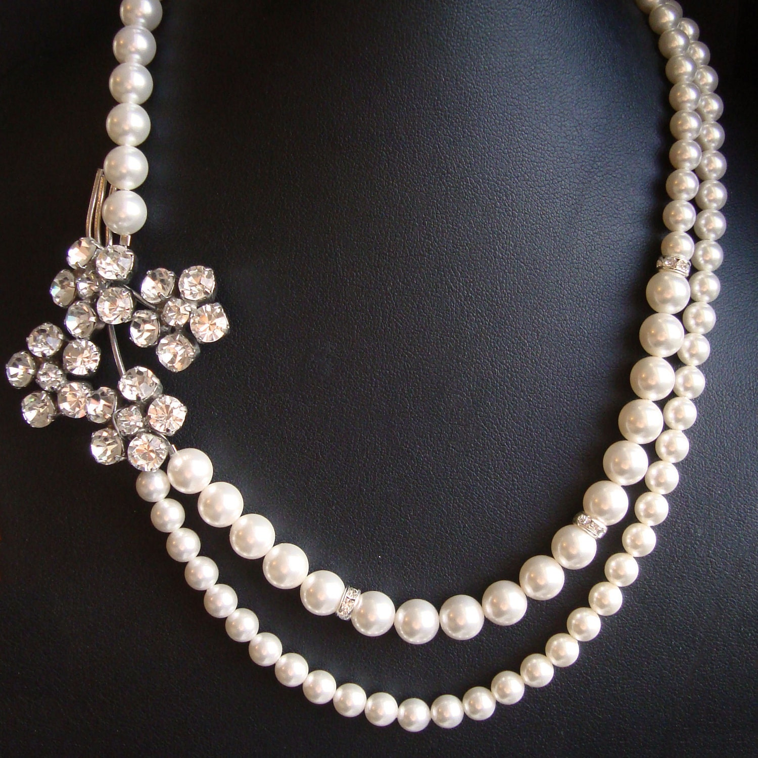 vintage bridal necklace vintage wedding jewelry by luxedeluxe