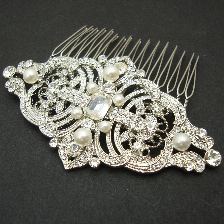 Wedding Vintage Style Hair Accessories: Vintage Style Bridal Hair Comb Wedding Hair Comb Wedding