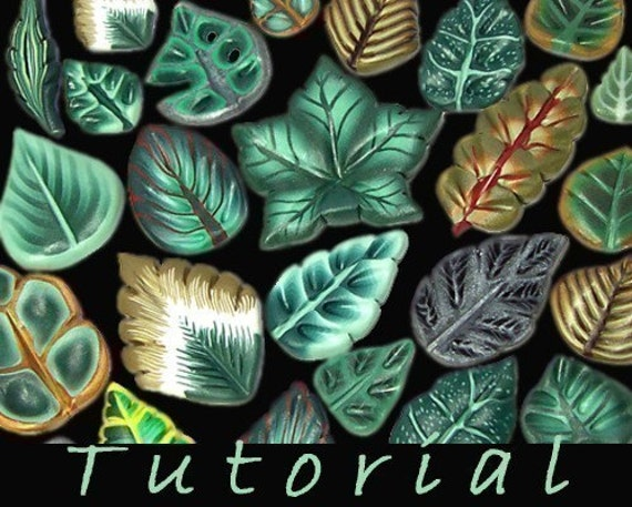 Tutorial Millefiori Polymer Clay Leaves