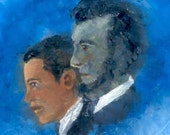 PRESIDENT BARACK OBAMA LINCOLN ACEO OIL PAINTING ALEETA