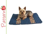 Square Pet Blanket Crochet Pattern pdf, Make a Snuggly Blanket for Your Kitty or Dog, Plus Bonus Toy Pattern