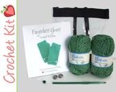 Fingerless Gloves Crochet Kit 7 Colors to Choose From