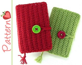Book Cover Crochet Patterns pdf, Vinyl or Crocheted Flaps, 2 Styles Included to Fit Paperbacks
