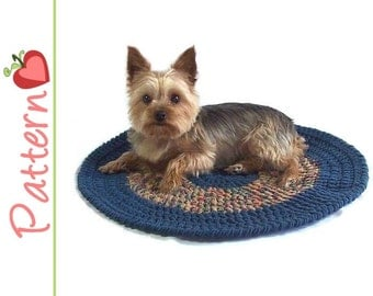 Round Pet Blanket Crochet Pdf Pattern, Make a Snuggly Blanket for Your Kitty or Dog, Plus Bonus Toy Pattern