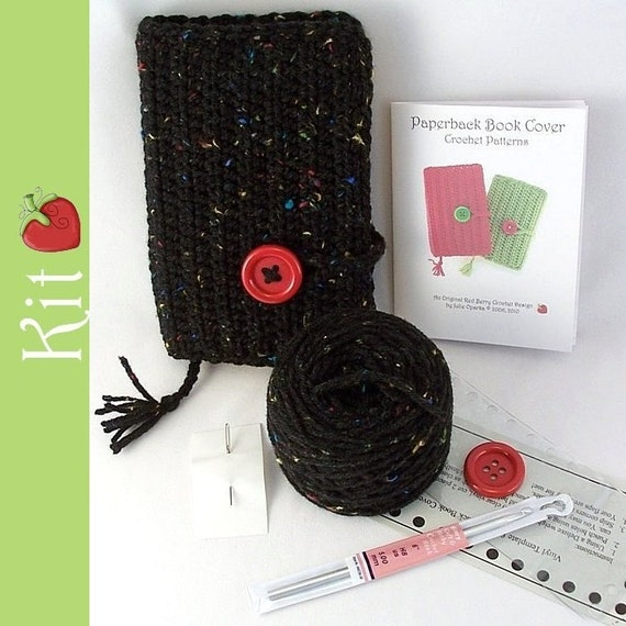 Paperback Book Cover Complete Crochet Kit - Quick to Stitch Easy Project