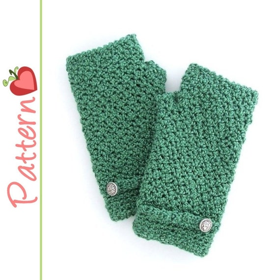 Crochet Fingerless Gloves Pattern Beginner : Fingerless Gloves Crochet Pattern Pdf Great for beginners