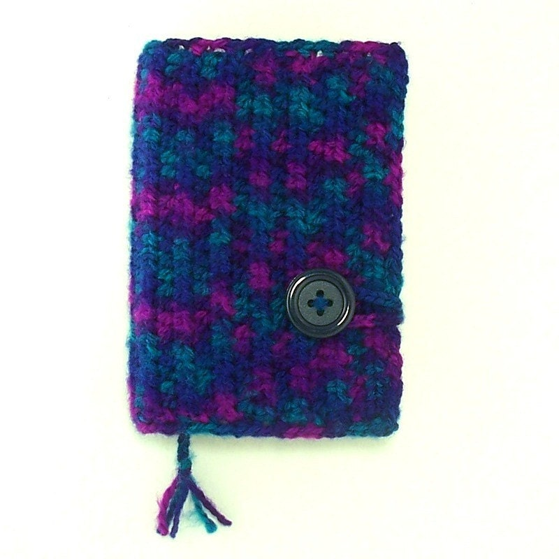 Book Cover Crochet Hair : Crochet paperback book cover in gemstone colors w bookmark