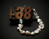 Custom  freeform pearl bracelet