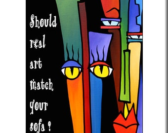 Pop art print Abstract painting Modern Contemporary colorful inspirational decor by Fidostudio