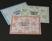 Thank You Note Cards - Orange, Blue, Green
