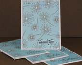 Dandelion Wishes Thank You Cards - Set of 4 - New Lower Price