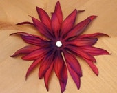 BLOSSOM - one large cranberry silk flower (one of two)