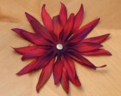 BLOSSOM - one large cranberry silk flower (two of two)