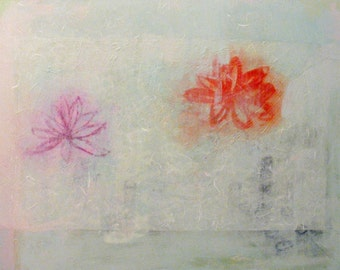 Original Painting Abstract Large Mixed Media Art by Aisyah Ang 30x40 with Cert