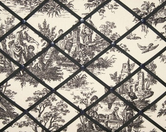 Waverly Black Country Life Toile French Memo Board