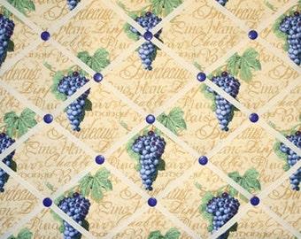 Wine Grapes French Ribbon Memo Picture Board