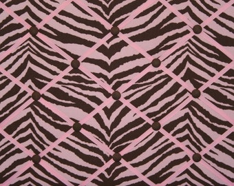Brown Pink Zebra Animal Stripe French Memo Board
