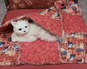 Cat Blanket Covered with Classy Rusty Cats