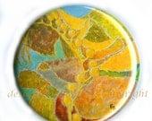 "Flat Art Purse or Pocket Mirror -  ""Mermaid's Lair"""
