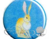 "Flat Art Pocket Mirror  Original watercolor - ""Jack"" - Elisabeth Baerreis EB28"