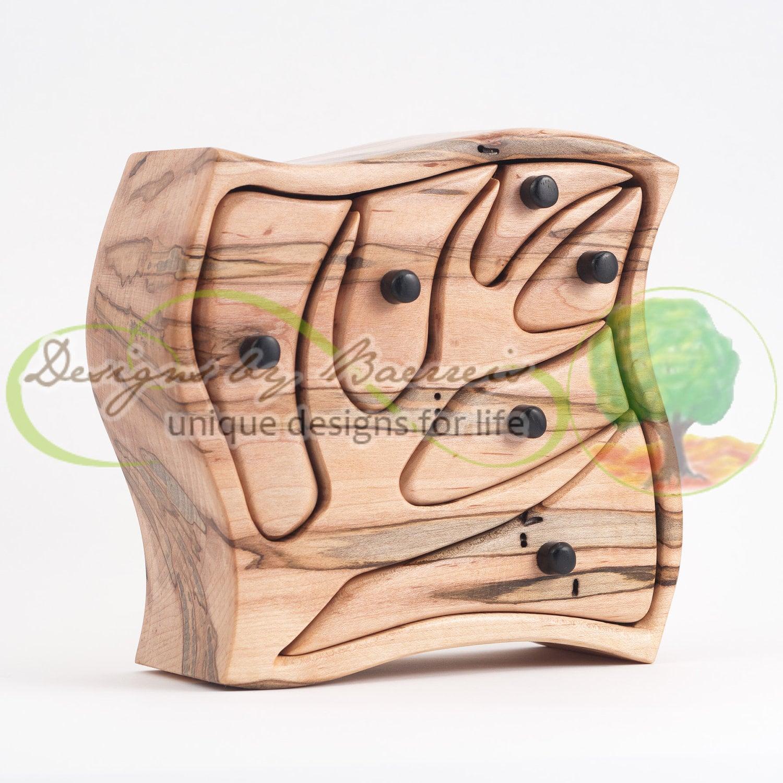 Box Eld Bands: Original Sculptural Art Band Saw Box Onward And