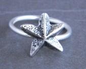 Starfish Sterling Silver Custom Charm Ring