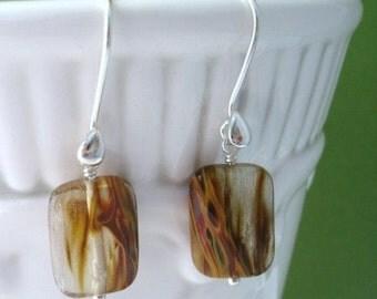 Cherry Quartz Sterling Silver Earrings, Dangle Earrings, Gemstone Earrings