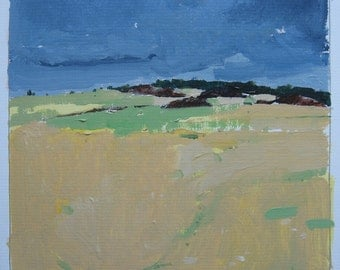 Original Landscape Painting on Card, Home Site 2