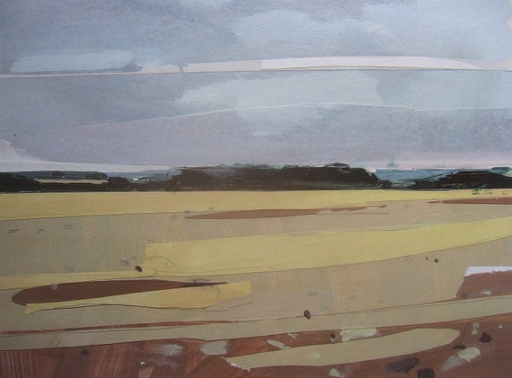 Archival Print of Landscape Painting, 8.5 x 11 Inches, Harvest Ready