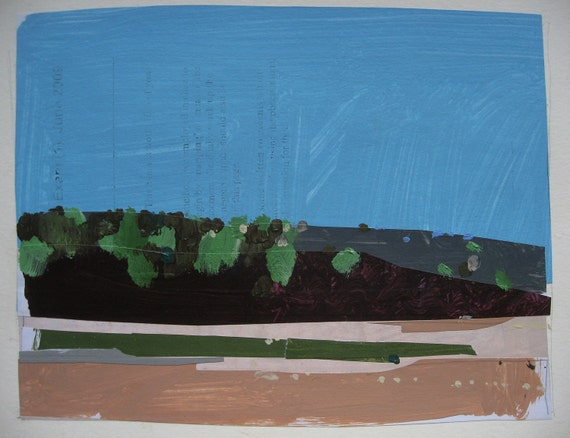 Original Landscape Painting on Paper, May Bloom