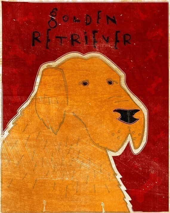 Golden Retriever Print 8 x 10