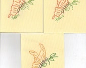 Hand Embroidery Butterfly Notecards