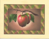 Red Apple Autumn Blank Greeting Cards
