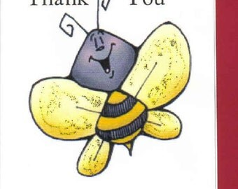 Whimsical Honeybee Thank You Cards