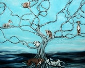 Tree of Shame - Rescue Awareness Italian Greyhound Whippet Print
