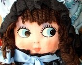 Large Blue Polly Sue Vintage Doll PJ Case