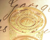 Three Sheets Vintage Dresden German Gold Scrap-Gold Foil For Art-Foil Decorative Paper-Package- Number One-Gold Paper Crafts-Gold Paper