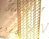 3 Sheets Gold Foil Decorative German Dresden-Package Number Two-Gold Paper-German Gold Scrap For Art-Vintage Gold Foil-Gold Paper