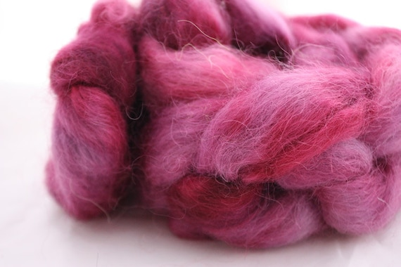 KOHLRABI - hand dyed Wensleydale top - Farmhouse Series