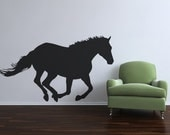 """Race Horse Extra Large Wall Decal - 45"""" tall x 77"""" wide"""