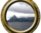 Porthole Wall Decal - The Mysterious Island