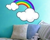 Rainbow and Clouds Vinyl Wall Decal