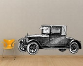 Large Classic Antique Car Vinyl Wall Decal