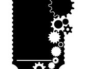 "Steampunk Gears Chalkboard Wall Decal - 36"" x 27"""