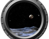 The View from Pluto Porthole Wall Decal