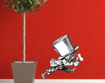 The Walking Mad Hatter an Alice in Wonderland Vinyl Wall Decal