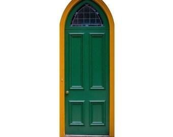 Fae Door Series - Green Fairy Door Vinyl Wall Graphic